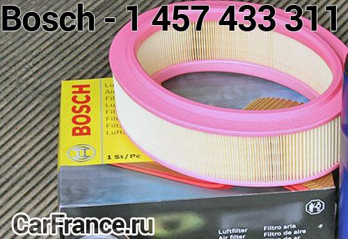 Внешний вид фильтра воздушного Bosch - 1 457 433 311
