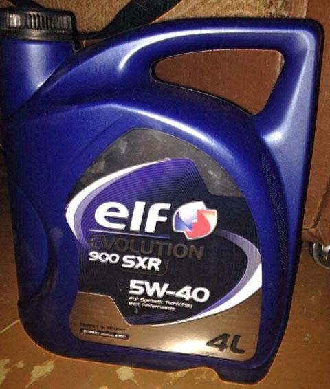 Моторное масло для Рено Меган 2 ELF Evolution 900 SXR 5W/40