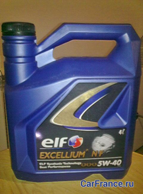 Синтетическое масло для Рено Меган 2 Elf Excellium NF 5W-40