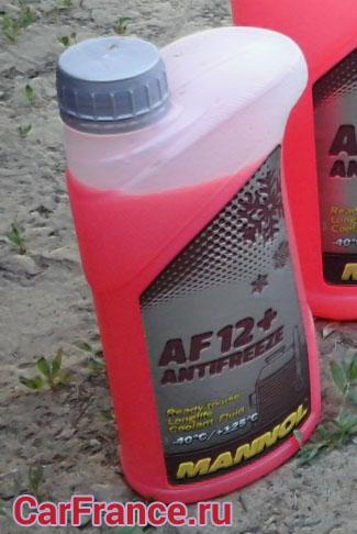 Антифриз Mannol AF12+ внешний вид 1 литр