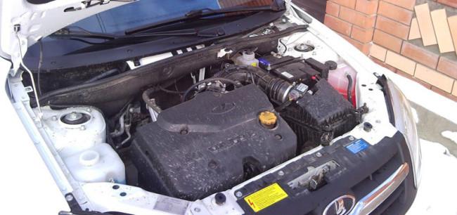Внешний вид 16-ти клапанного двигателя Лада Гранта (98 л.с.)