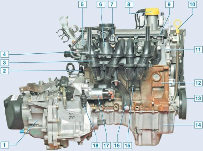 Двигатель K7M-K7J, схема