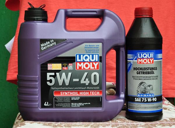 Синтетическое масло в МКПП Лада Гранта LiquiMoly 5w-40