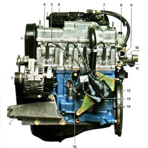 Чертёж двигателя 11183