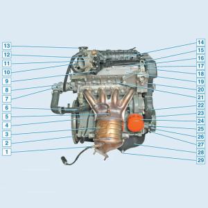 Двигатель 21126, система смазки