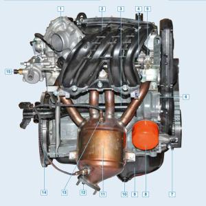 Чертёж двигателя 21116