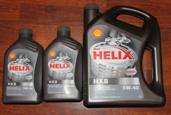 Shell Helix HX8, вязкость 5w40