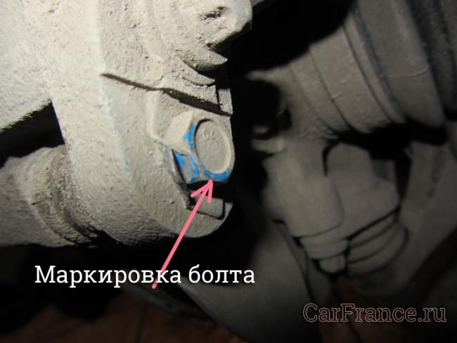 Цветовая маркировка болта суппорта