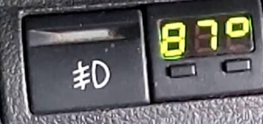 Температура двигателя на отдельном индикаторе вместо заглушки