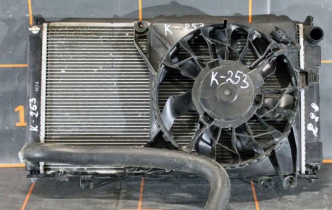 Вентилятор в сборе радиатором двигателя Лада Гратна