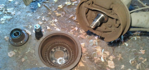 Задний барабанный тормоз в Гранте