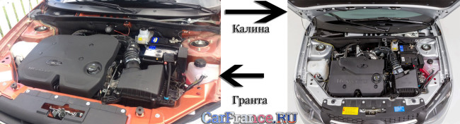 Двигатель Лада Гранта и Ладка Калина сравнение