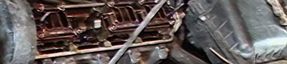 Крышка клапанов снята двигатель Лада Гранта