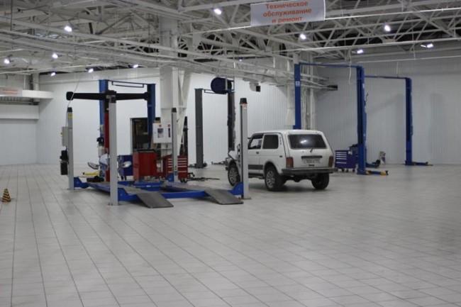 Сервисная зона автосалона Красноярск-Лада