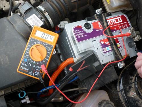 Измерение тока аккумулятора Mutlu на Гранте