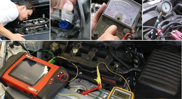 Процесс диагностики электронных систем управления двигателем