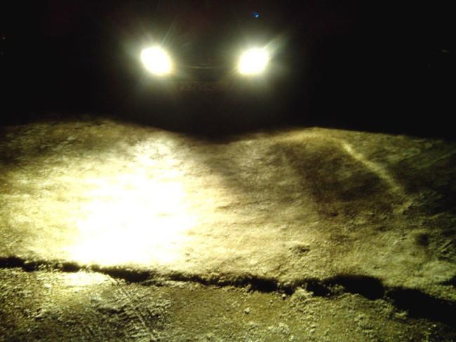 Правая фара светит в пол на Лада Гранта
