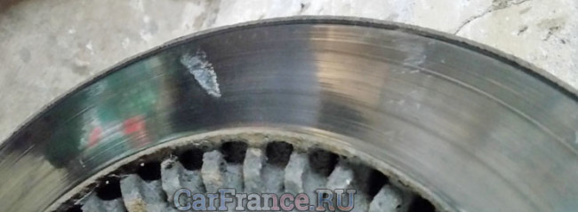 Тормозной диск повела на Лада Гранта