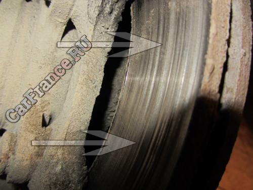 Очень сильная выработка на тормозных дисках Лада Гранта