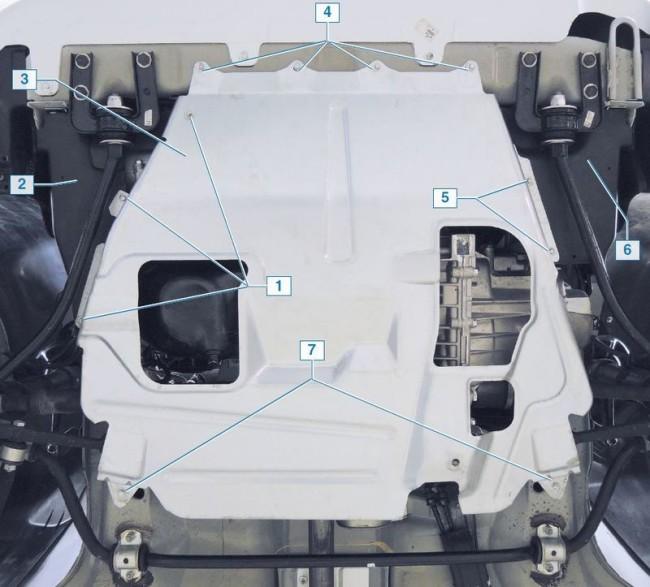 Средний щиток мотора в Гранте