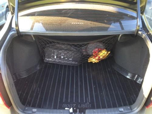 Сетка на спинку заднего сидения в багажник Лада Гранта
