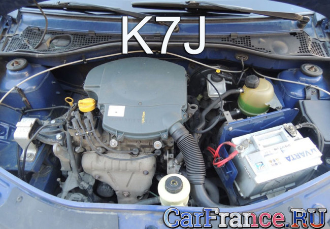 K7j 8 клапанов 1.4 Рено Логан двигатель