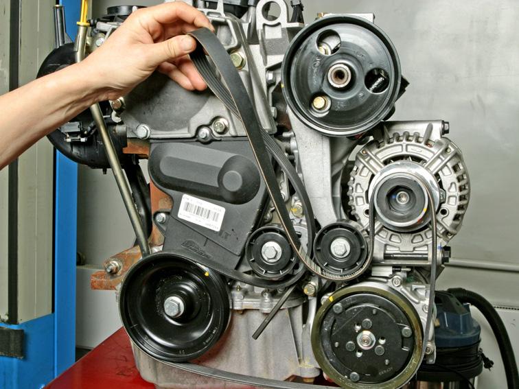 renault symbol замена ремня генератора
