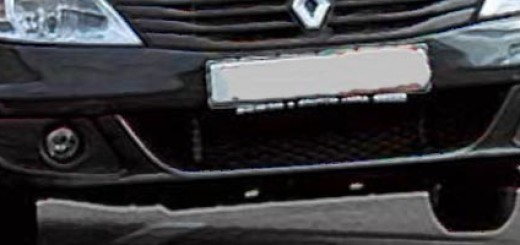 Рено Логан в старом кузове на вираже