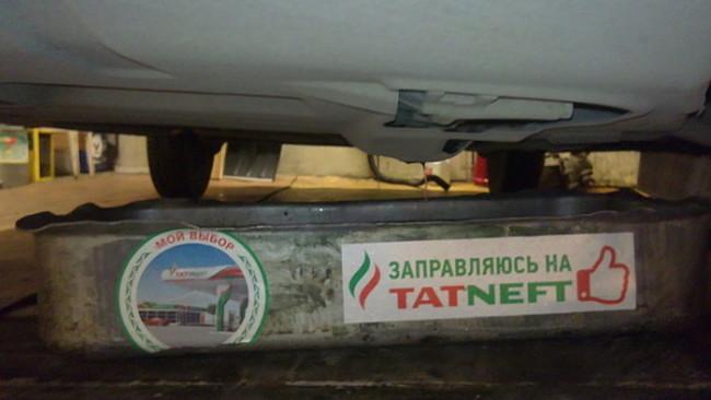 Слив антифриза для замены радиатора отопителя Лада Гранта
