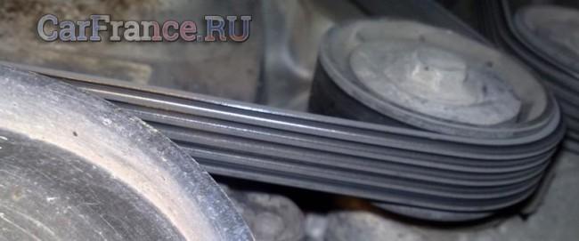 Ремень генератора проверка на чистоту Рено Логан