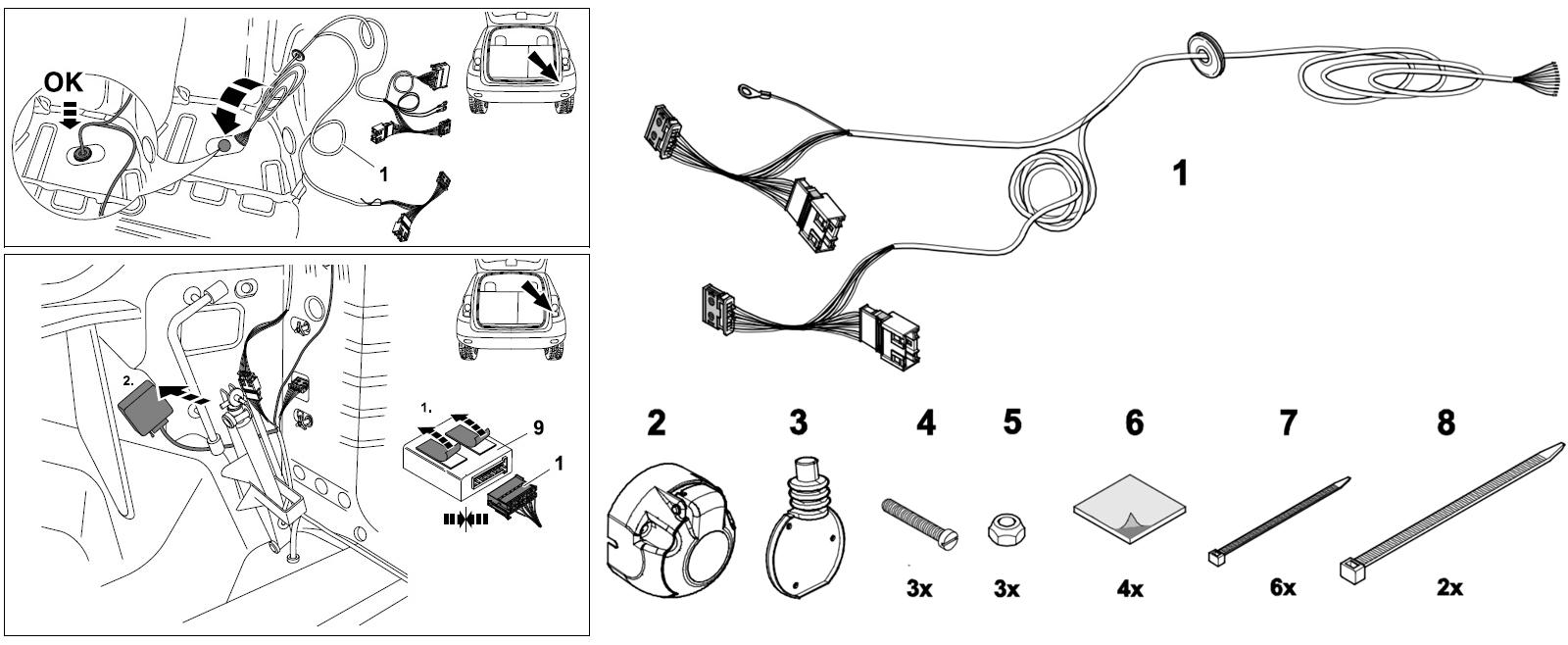 схема подключения электрики для фаркопа