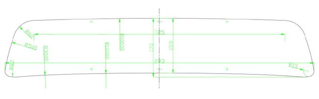 Шаблон нижней решётки радиатора Дастер