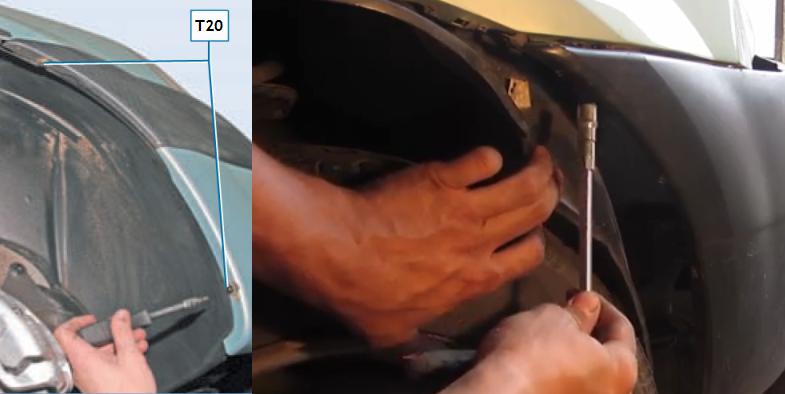 Бампера передний ремонт своими руками