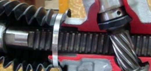 Рулевая рейка в разрезе на Рено Логан
