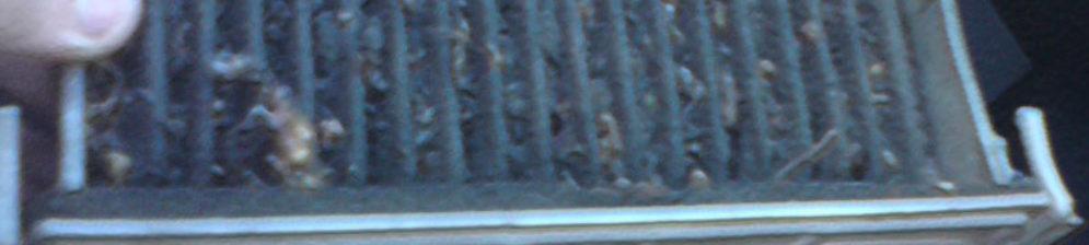 Старый салонный фильтр Рено Логан