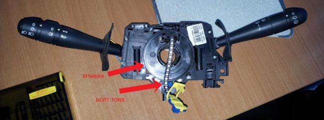 Ремонтируем контактный шлейф контактного кольца подушки безопасности Рено Логан