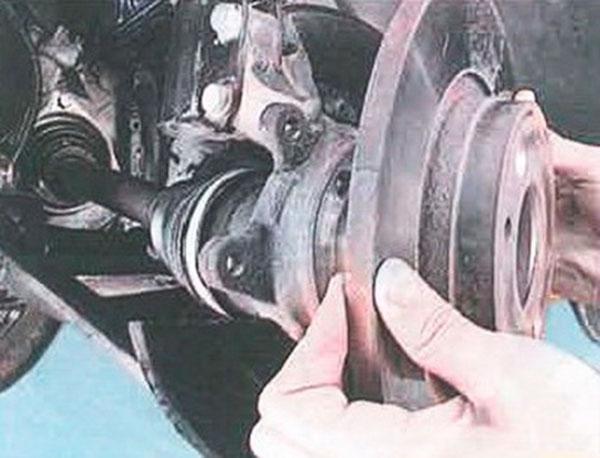 Снятие тормозного диска Рено Логан