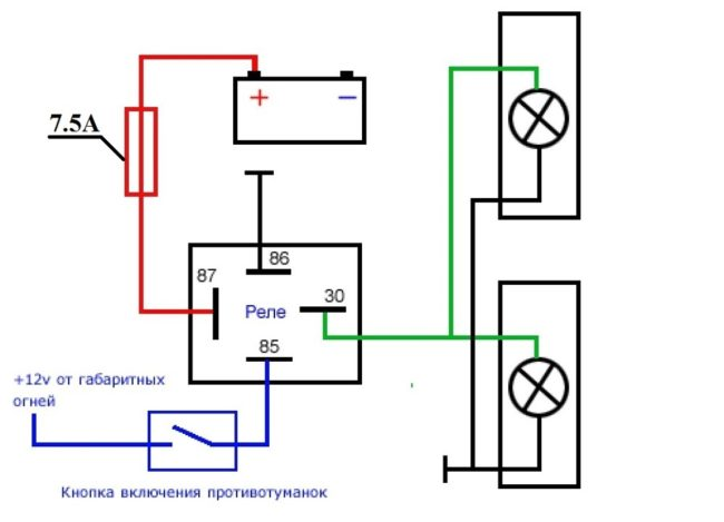 Схема подключения ДХО на Рено Логан