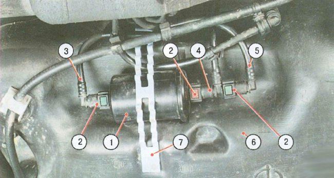 Схема подачи топлива Логан, фаза 1