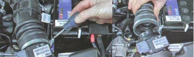 Фильтр двигателя Гранта, снять