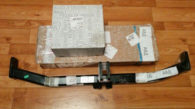 Установочный комплект фаркопа на Рено Логан в новом кузове