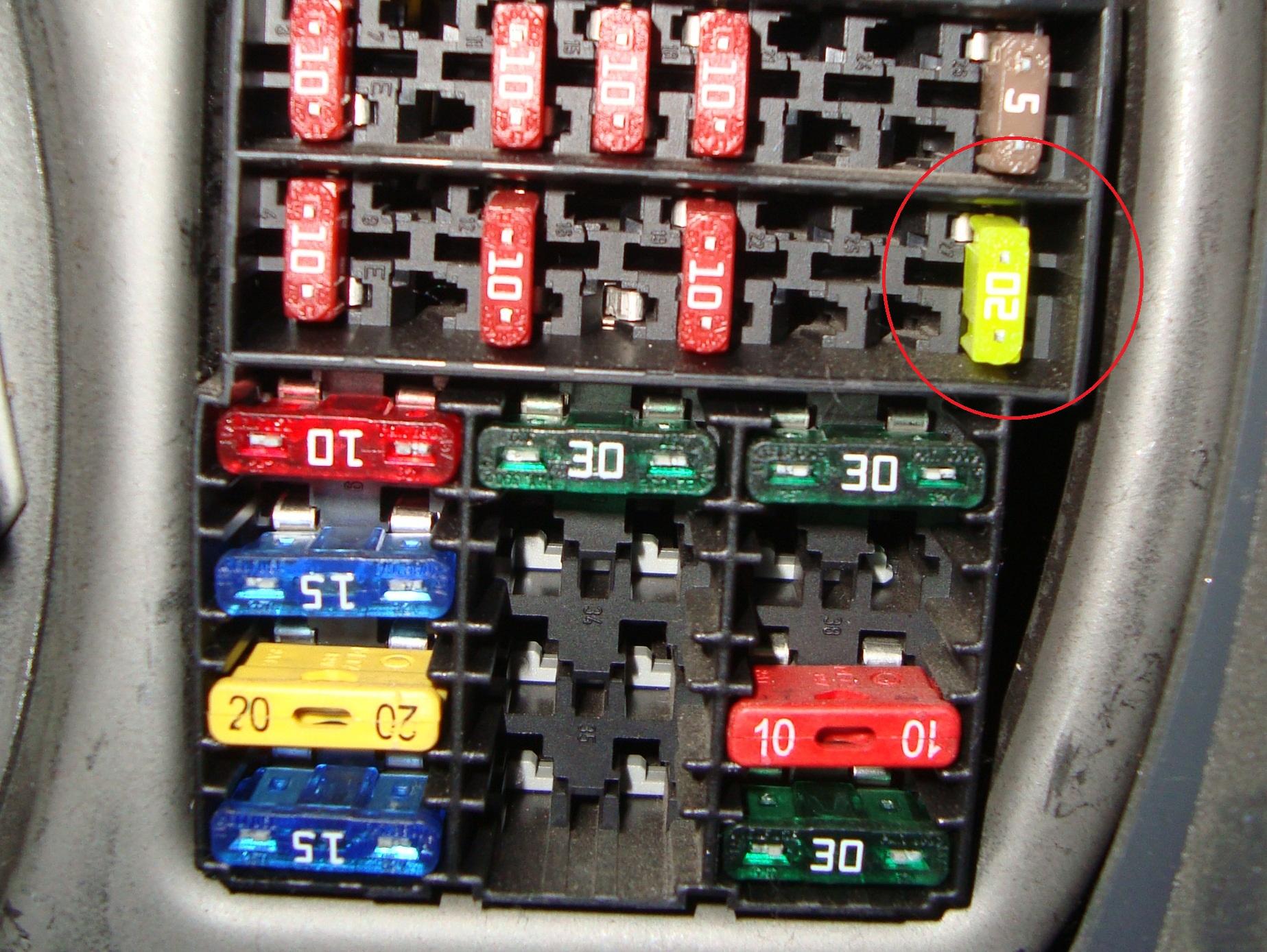 электрическая схема панели приборов рен логан