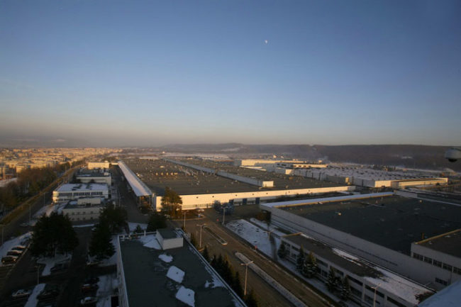 Завод Dacia (концерн Рено) в Питешти