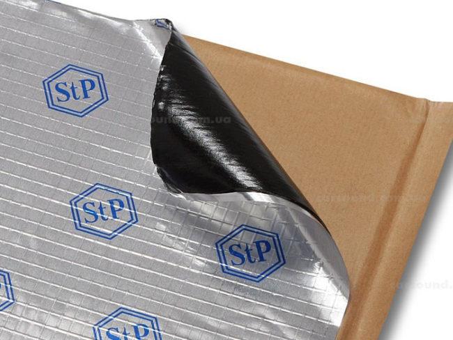 Вибропласт М1 STP лист открывают от покрытия