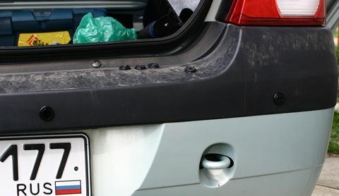 Парктроник после установки