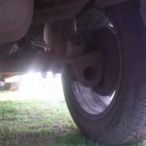 Фото задней подвески с дорожным просветом до земли Лада Ларгус