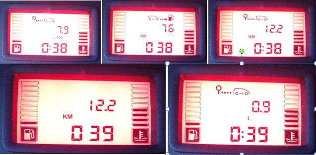 Стандартные значения активированного бортового компьютера Рено Логан