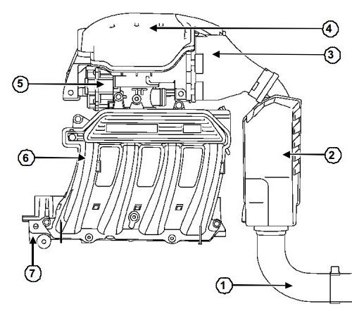 Впускной тракт K4M, глушитель