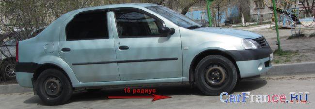 Стандартные колёса 15-го радиуса на Рено Логан