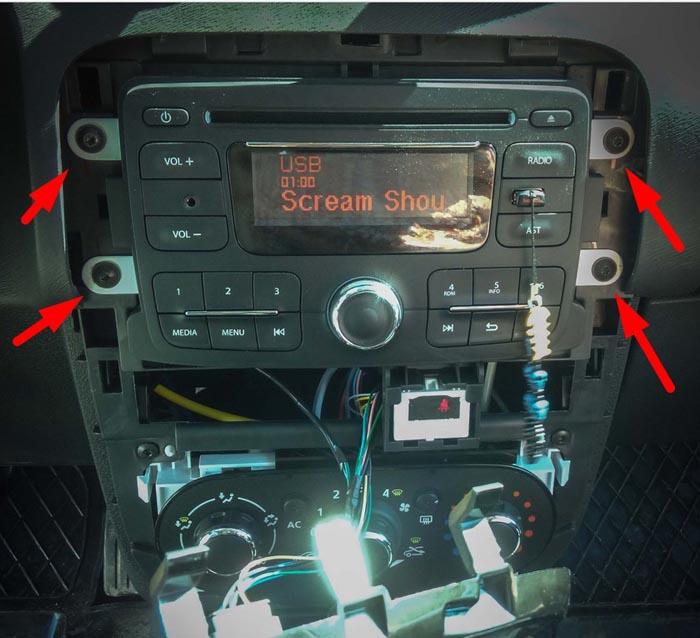 код для рено на радио дастер
